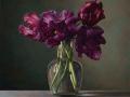 Black Tulips - 2020 olio su tavola cm 50x50 © Gianluca Corona