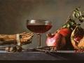 Cannella Vino e Melagrane - 2013 Olio su tavola cm 25x50 © Gianluca Corona