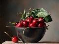 Ciliegie - 2015 olio su tavola incamottata cm 25x25 © Gianluca Corona