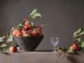 Composizione con Mele - 2015 olio su mdf cm 120x70 © Gianluca Corona