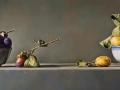 I Duellanti - 2013 olio su tavola cm 25x55 © Gianluca Corona