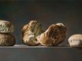 I Pani (In Scena) - 2017 olio su tavola cm 30x60 © Gianluca Corona