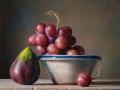 L'Uva e il Fico - 2018 olio su tavola cm 30x30 © Gianluca Corona