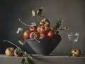 Le mele di Montezago - 2014 olio su tavola di pioppo cm 50x60 © Gianluca Corona