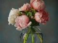 Peonies Bouquet - 2021 olio su tela cm 50x40 © Gianluca Corona