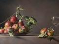 Piatto con mele selvatiche - 2016 olio su tavola cm 55x95 © Gianluca Corona