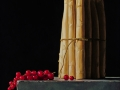Ribes rosso e asparagi bianchi - 2007 olio su tavola cm 35x40 © Gianluca Corona
