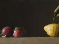 Sulla scena - 2013 olio su tavola cm 21,5x50 © Gianluca Corona
