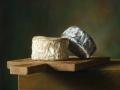 Tagliere con Formaggi - 2012 olio su tavola cm 23x29 © Gianluca Corona