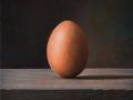 The Perfect Shape (Egg) - 2019 olio su tavola cm 25x25 © Gianluca Corona